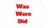 Cuando usar Was, Were y Did? Lección con ejercicios y Respuestas