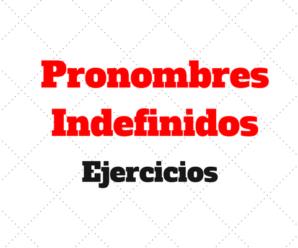 Pronombres Indefinidos Ejercicios