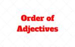 Orden de los Adjetivos en Inglés: Cual es la Prioridad
