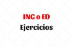 Ejercicios Adjetivos terminados en ING o ED
