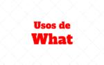 Usos de What
