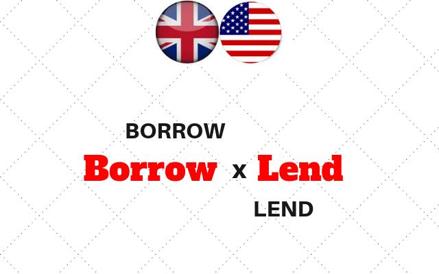 ingles borrow lend